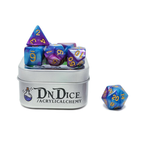 DnDice Acrylic Alchemy: Power Ranger Dice Set
