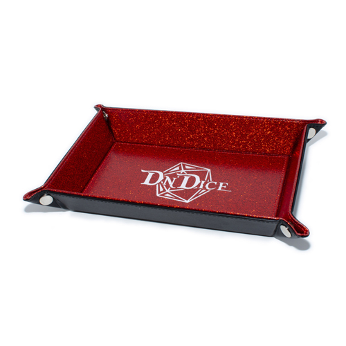 DnDice Adventure Gear: Glitter Red Dice Tray