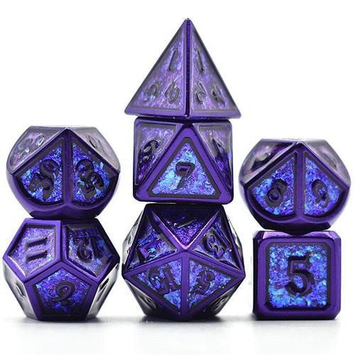 DnDice Dragon Core: Planar Purple Dice Set