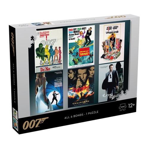 James Bond Puzzle Actor Debut  Poster (1000 Pieces)
