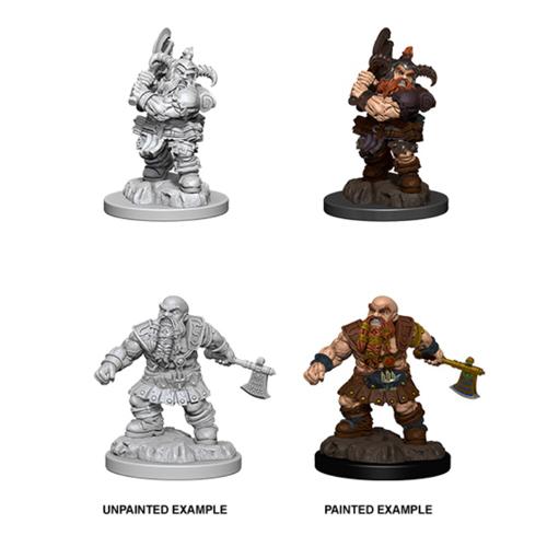 Male Dwarf Barbarian: D&D Nolzur's Marvelous Unpainted Miniatures (Wave 4)