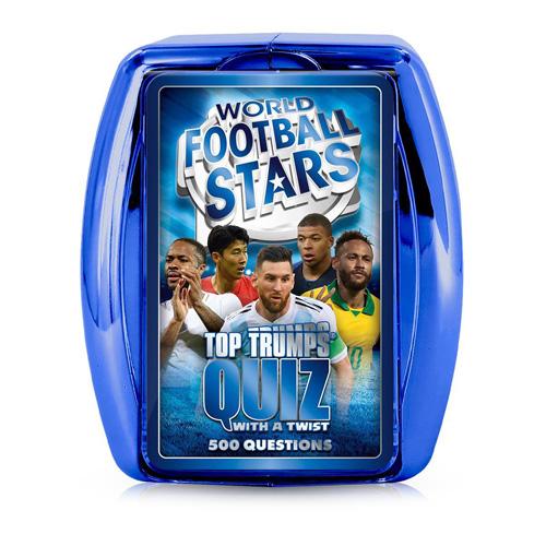 World Football Stars Blue - Top Trumps Quiz