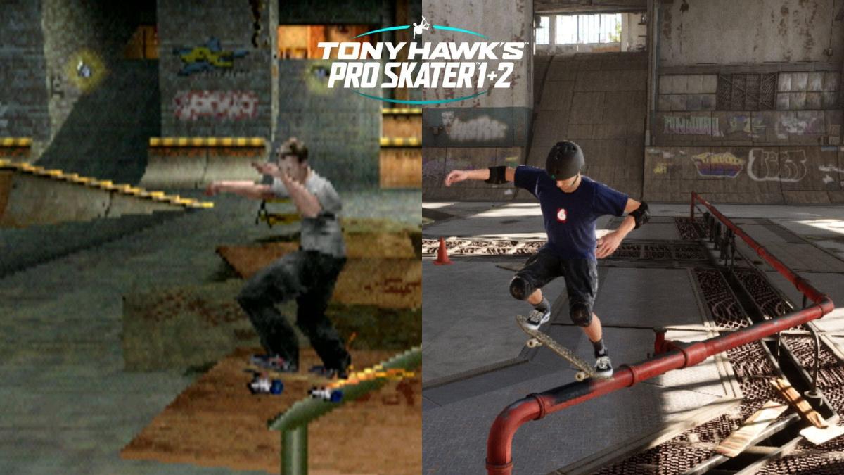 tony hawk's pro skater 1+2 side by side