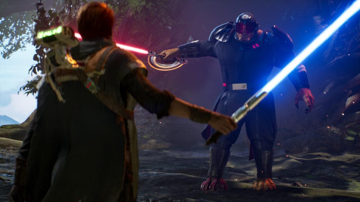 star wars jedi fallen order lightsaber battle