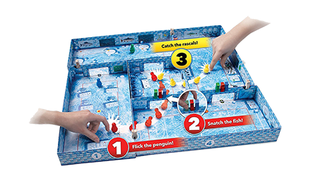 Playing Ice Cool Board Game
