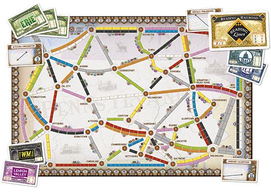 Ticket To Ride: United Kingdom - Pennsylvania Map